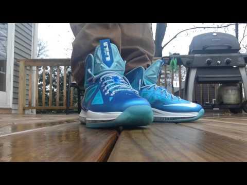 Lebron X Blue Diamond On Feet