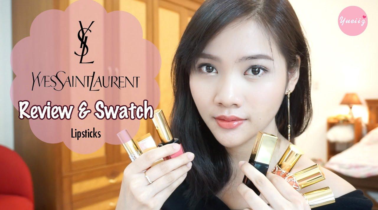 Review \u0026amp; Swatch my YSL Lipsticks   Yueiiz - YouTube
