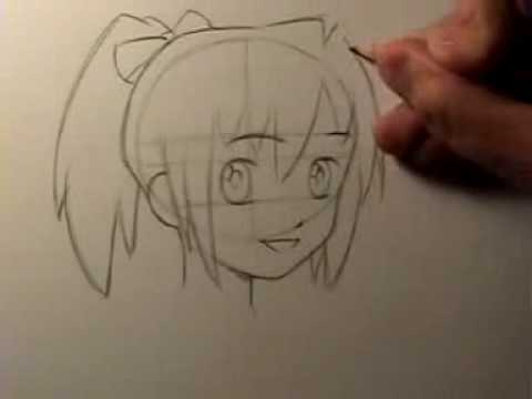 How To Draw Manga Head Shape Facial Features Youtube