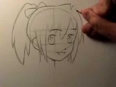 draw manga head shape &