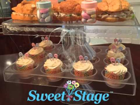 Sweet Stage Rectangular Cake Pie And Dessert Display Stand YouTube Inspiration Pie Display Stand