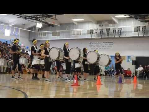 Hercules High School Drumline Multicultural Rally 2015 Pt. 1