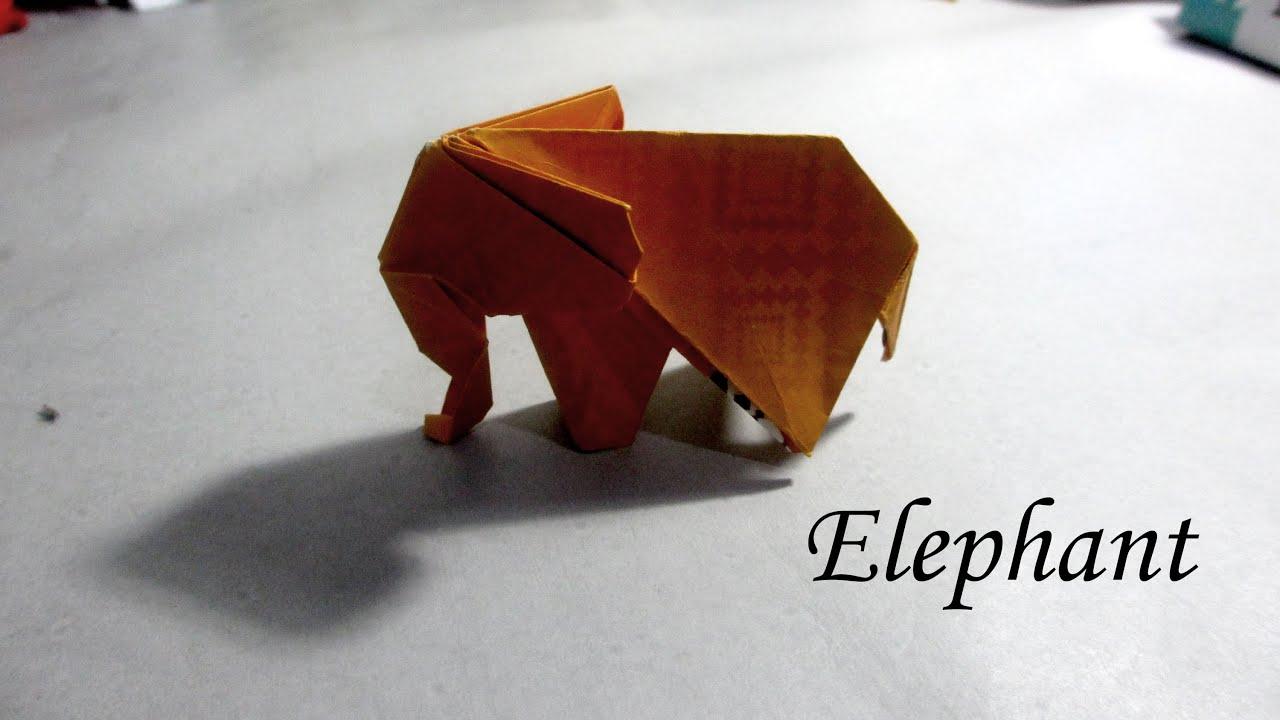 Easy Fun Origami Tutorial Elephant - YouTube - photo#18
