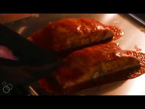 Honey BBQ Baked Salmon Meal Prep Bowls