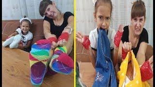4 PARMAK CHALLENGE, Elif ve Lera yarışıyor eğlenceli oyunlar sonunda sürpriz var, kim kazanıyor