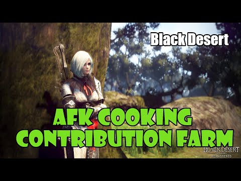 [Black Desert] AFK Contribution Point Farming with Cooking! How To / Guide