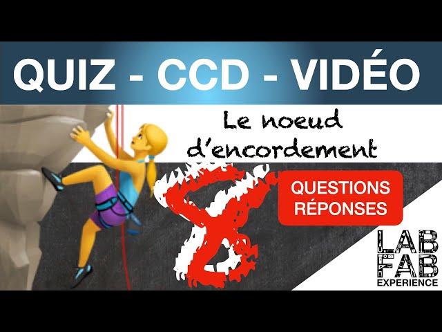 Quiz - CCD - Escalade - Noeud d'encordement - Double noeud de 8