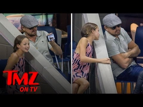 Leonardo Dicaprio Takes a Selfie with a Fan at U.S. Open (TMZ TV)