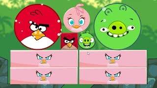 Angry Birds Kick Piggies - ROUND SMALL STELLA KICK ALL HUGE ROUND BIRDS AND PIGS!