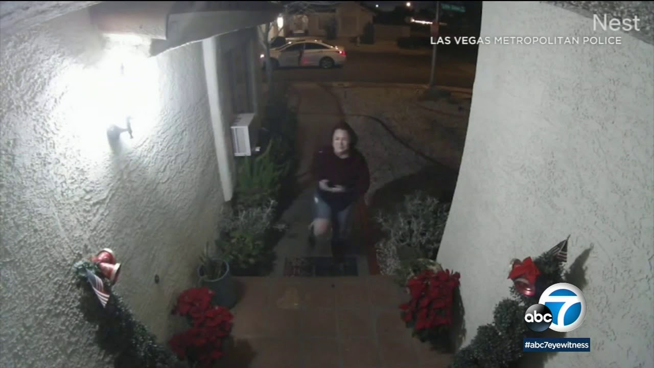 Doorbell camera captures woman being chased, assaulted by man in Las Vegas | ABC7