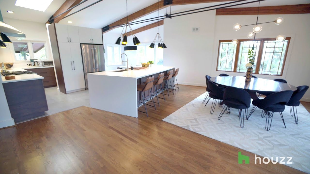Inspired Houzz: An Open Floor Plan Updates a Midcentury Home on vintage modern houses, modern contemporary houses, green modern houses, art modern houses, architecture modern houses, hgtv modern houses, beach modern houses, google modern houses, blue modern houses, black modern houses, architizer modern houses, real simple modern houses, traditional modern houses, color modern houses, pink modern houses, modern modern houses, design modern houses,