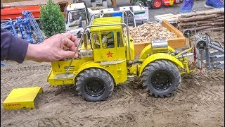 Stunning RC Tractors! Farming! Tractor stuck and rescue!