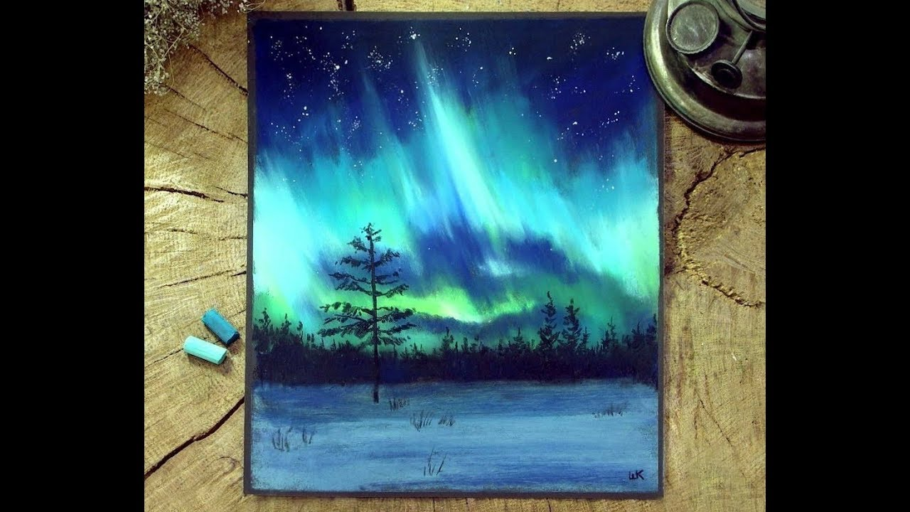 Timelapse How To Draw Northern Light Youtube