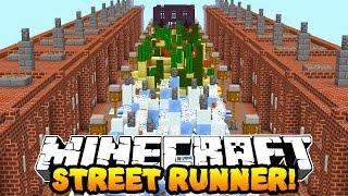 Minecraft STREET RUNNER OBSTACLE COURSE! w/Preston, Mitch & Vikkstar
