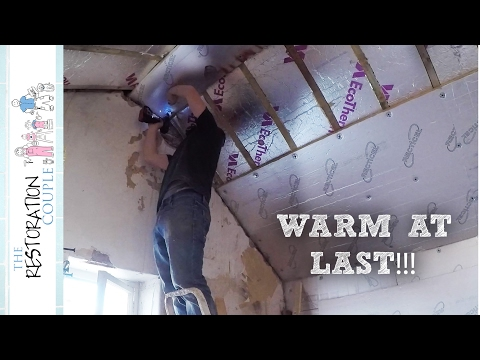 Insulating Between & Under Rafters   Loft Conversion Project 4.0