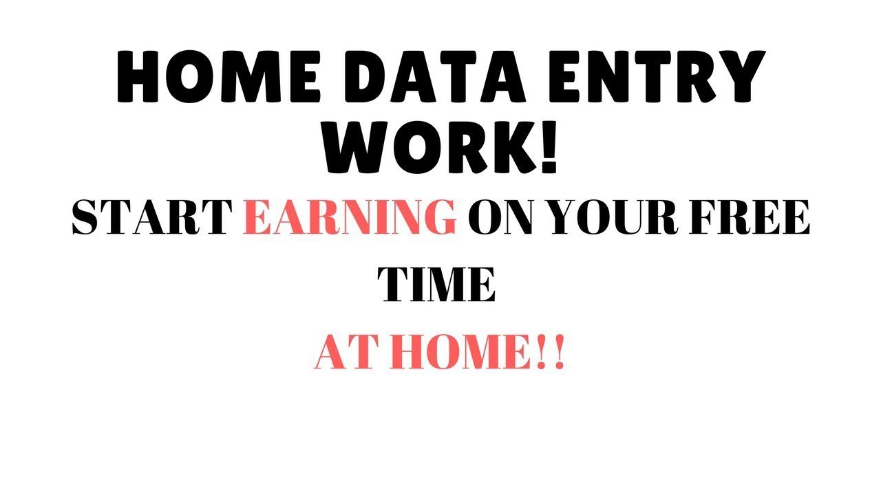 Home Based Data Entry Job - YouTube
