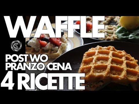 Pranzo Proteico Ricette : Waffle: 4 ricette post work out pranzo e cena youtube