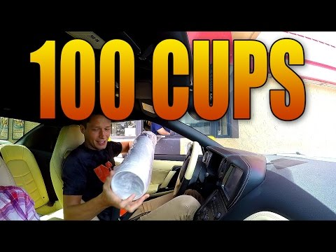 BUYING 100 BLACK OPS 3 CUPS FROM HARDEES DRIVE THRU!