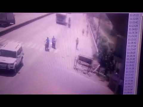 Bus accident at dhunaki more patna