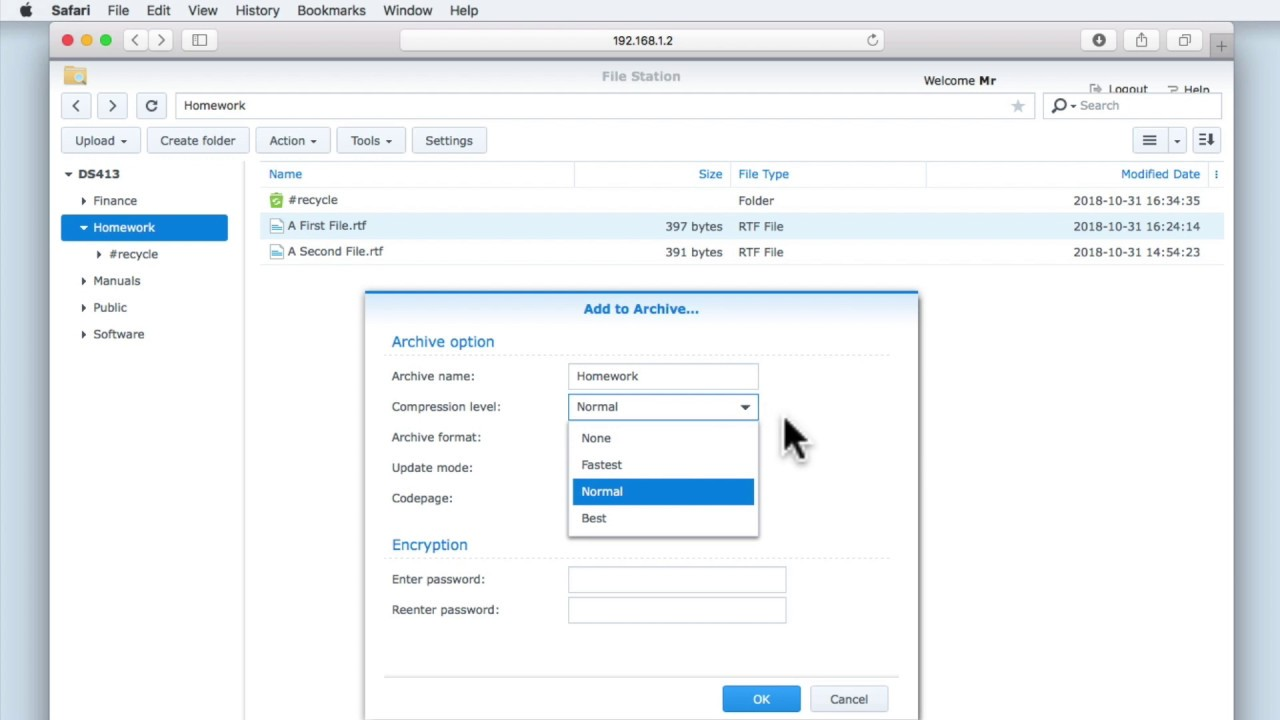Synology NAS Quick Tip: How to Archive Files or Folders in File Station