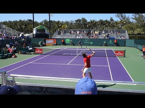 Tsitsipas v. Medvedev (Court Level View) 60FPS HD Miami Open 2018 R1