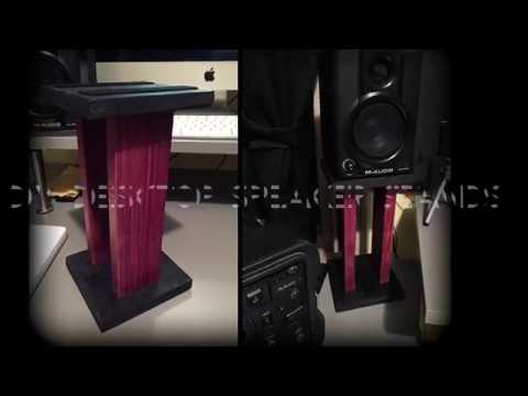 DIY Desktop Speaker Stands For Your Home Studio!!