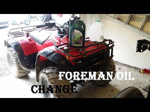 how-to-change-atv-/-quad-bike-engine-/-motor-oil---2001-honda-foreman-450s-43000km