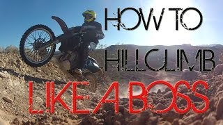 o#o How to Hill Climb on a Dirt Bike & Pick up a Dual Sport Motorcycle on a Slope [mv]{