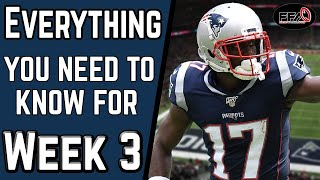 EVERYTHING You NEED to KNOW Before Week 3 - 2019 Fantasy Football