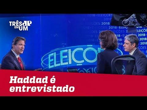 Haddad é entrevistado no Jornal da Globo