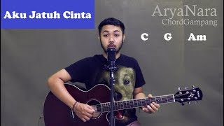 Chord Gampang (Aku Jatuh Cinta - Roulette) by Arya Nara (Tutorial Gitar) Untuk Pemula
