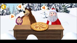 Маша и медведь. Пиццерия. Дед мороз.