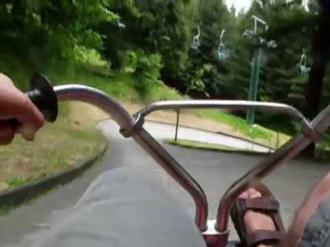 rotorua louge track new zealand north isle gondola chairlift run fast downhill paved
