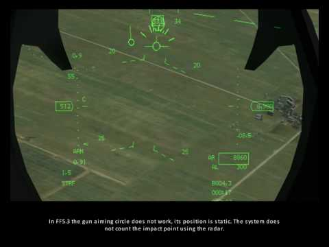 FreeFalcon 5 training - 15 - AA and AG gun usage