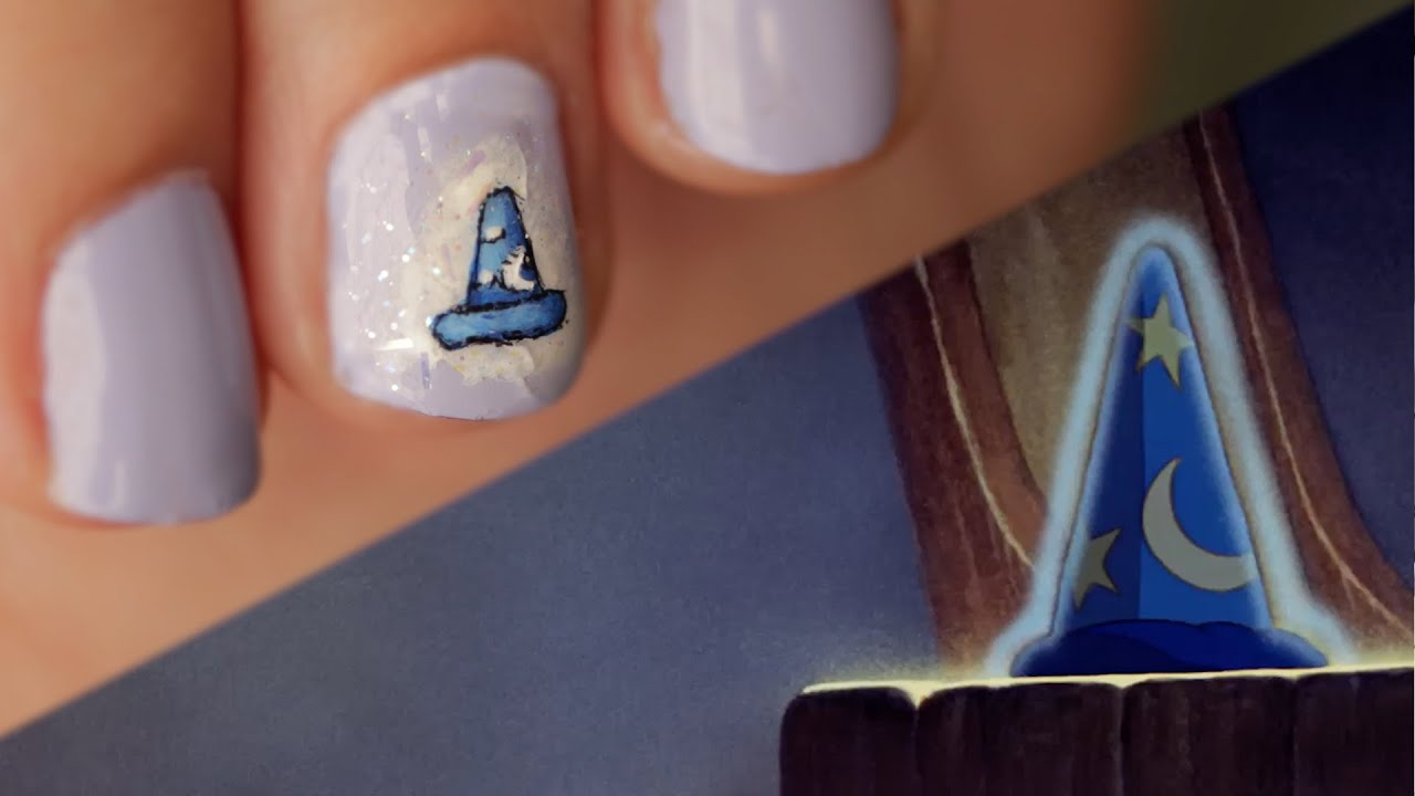 Mickey mouse sorcerer hat nail art tutorial disney style youtube mickey mouse sorcerer hat nail art tutorial disney style prinsesfo Image collections