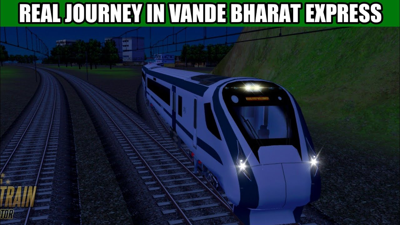 REAL JOURNEY IN VANDE BHARAT EXPRESS    REAL TRACK SOUND IN TRAIN 18