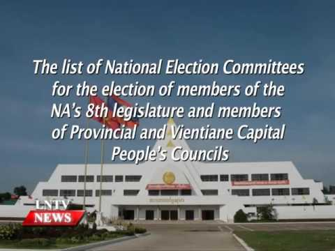 Lao NEWS on LNTV: President states NA member election to fall in March.4/1/2016
