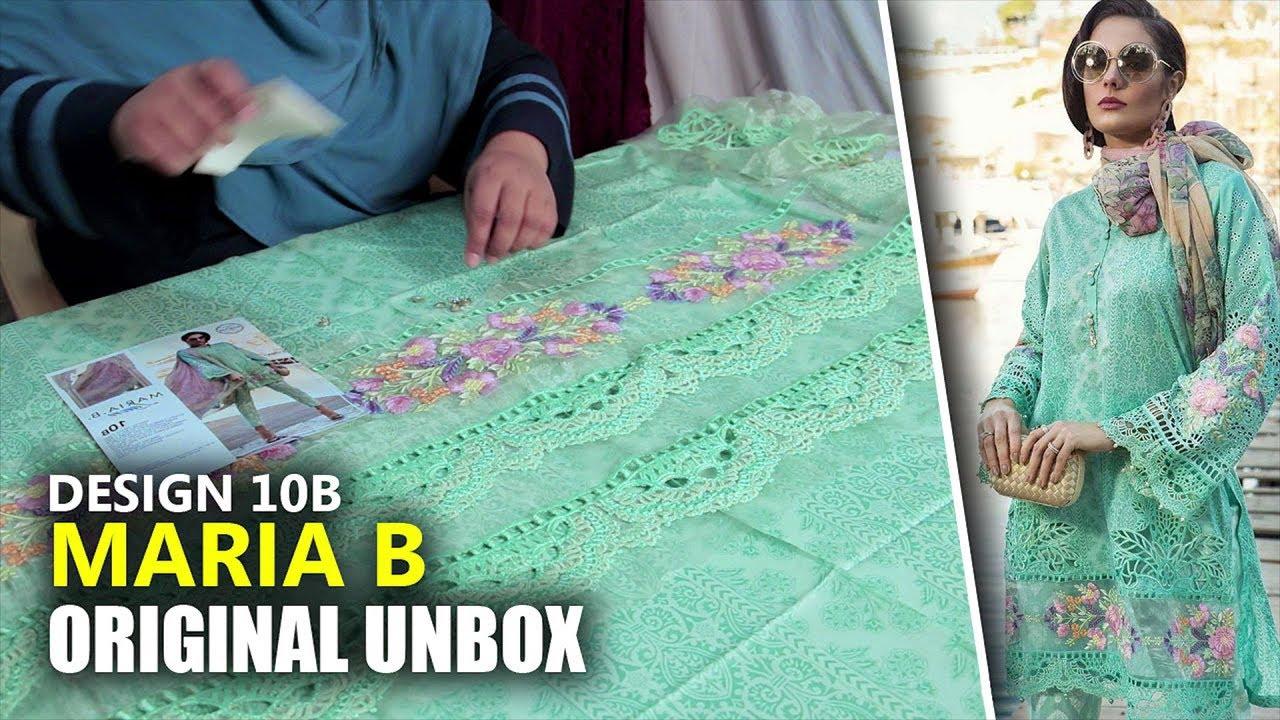 902171fd18 👗 Maria B Lawn Collection 2019 - Unbox Green D-1910B - Sara Clothes ...
