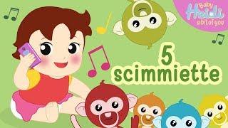 Cinque Scimmiette Saltavano Sul Letto.All Clip Of Cinque Scimmiette Bhclip Com