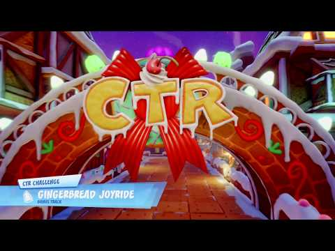 Crash Team Racing Nitro Fueled Gingerbread Joyride CTR Challenge