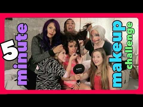 5 minute MAKEUP challenge w/ the TOP 6! #NYXFACEAWARDS thumbnail
