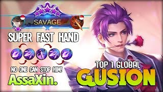 SAVAGE!! Next Level Gusion?! Perfect Dagger! AssaXin Top 1 Global Gusion ~ Mobile Legends