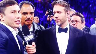 Max Kellerman interviews GGG and Canelo after Chaves jr. Fight