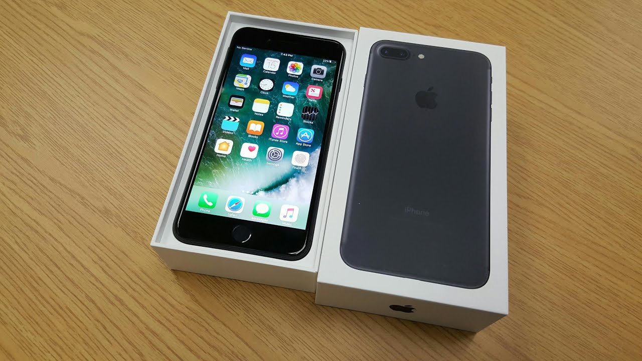 iphone 7 plus black unboxing. iphone 7 plus black unboxing youtube