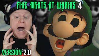 LUIGI GETS UPSET WITH ME   FIVE NIGHTS AT WARIO'S 4 [ VERSION 2.0 ] - WEEK 2 NIGHTS 1 2 3