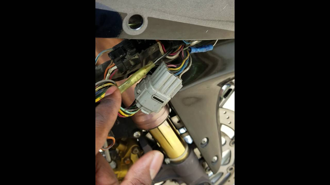 2002 suzuki gsxr 750 wiring diagram 7 way trailer wire headlight not working youtube