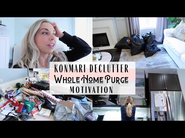 Konmari Method Declutter | Whole Home Purge Recap | Inspiration & Motivation