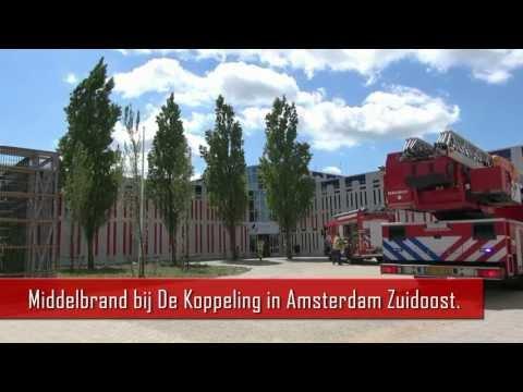 Brand bij De Koppeling in Amsterdam Zuidoost.