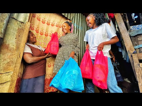 Knocking Random Doors In Nairobi/Kenya And Surprising People With Shopping! ft Mungai Eve