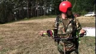 Как научиться летать на параплане? Старт на лебедке.